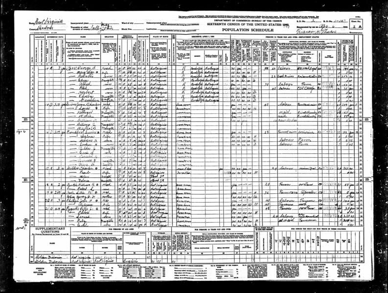 1940 US Census Images