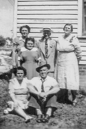 Hattie Adams - with family
