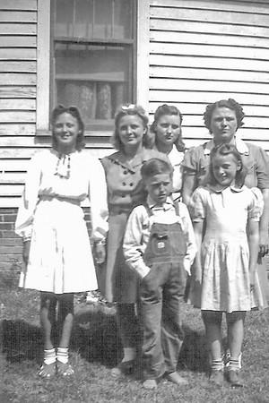 Adams Family - siblings and Hattie