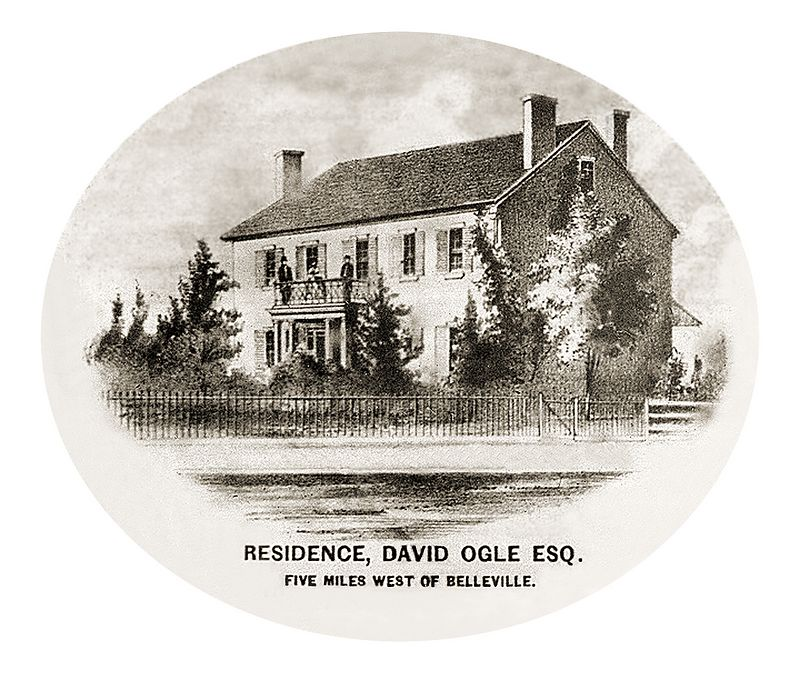 Samuel Ogle's house as it was originally contructed -a Federal-style central hall house with late Colonial hangover details. David Ogle became the owner in name after his father's death in 1847, although his mother Deborah Wollaston Ogle lived until 1859.