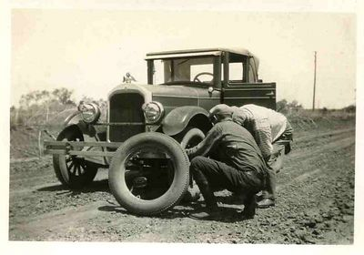 Flat tire on the T.