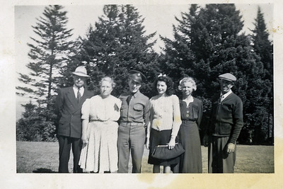 Walther Anderson, Esther Anderson, Dwayne Anderson, Opal Anderson, Hazel Karner & Ray Karner - In Vancouver Washington after Dwayne and Opals Wedding.