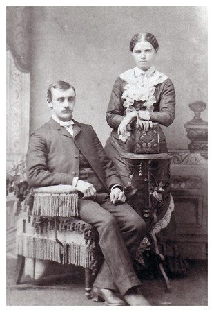 1885 Morris Peter Whitmer with his wife, Mary Hannah Hinkhouse: Birth date:	6 Apr 1861 Death date:	13 Oct 1938
