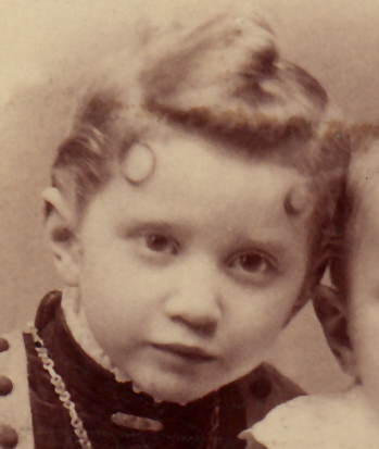 1888 Maud Miller, daughter of Howard and Anna Miller, Morrie Miller's Grandparents Birth date: Oct 1883