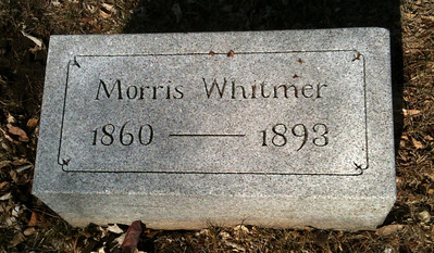 1893 Morris Peter Whitmer Birth date:	16 Aug 1860 Death date:	16 Sep 1893 Graceland Cemetery, Sioux City, IA