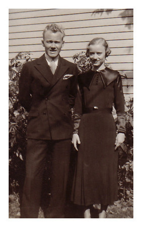 1933 Morris Miller and his sister, Marianne, Sioux City, IA.