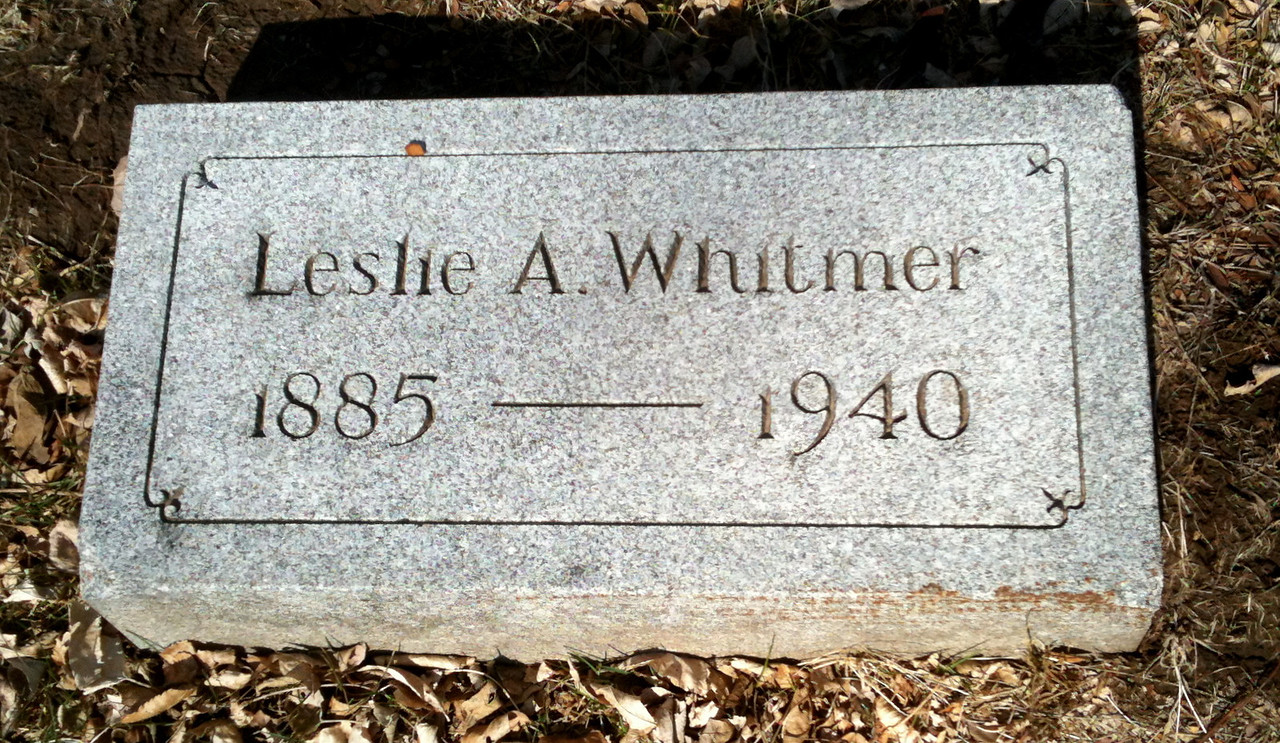 1940 Aaron Leslie Whitmer Birth date:23 Sep 1885 Death date:30 Aug 1940 Graceland Cemetery, Sioux City, IA