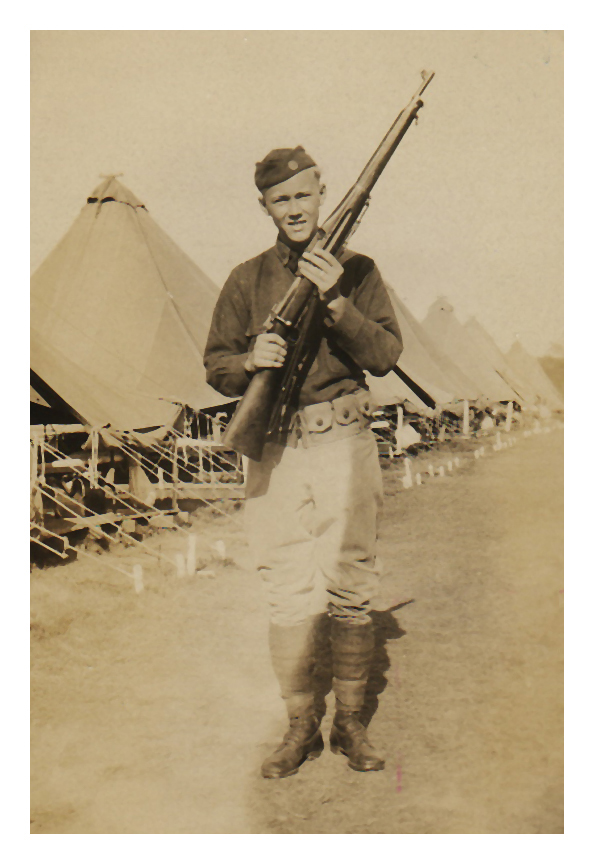 1930 Morris Miller at Citizen's Military Training Camp, Fort Des Moines, IA.