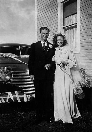 MARRIAGE VINCENT BLANCHARD & IRENE HACHE - 1946