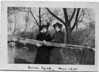Eva Schaffer (right) and one of her sisters.<br /> <br /> Bronx Park, New York City.  March, 1915