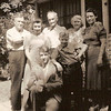 1936 - back: Will Shirley, unknown, Samuel Barger, Grace Shirley, Pearl Voas; front: Will and Bob Voas