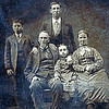 18xx - Hamilton and Hannah Bailey Partello family photo from Tintype