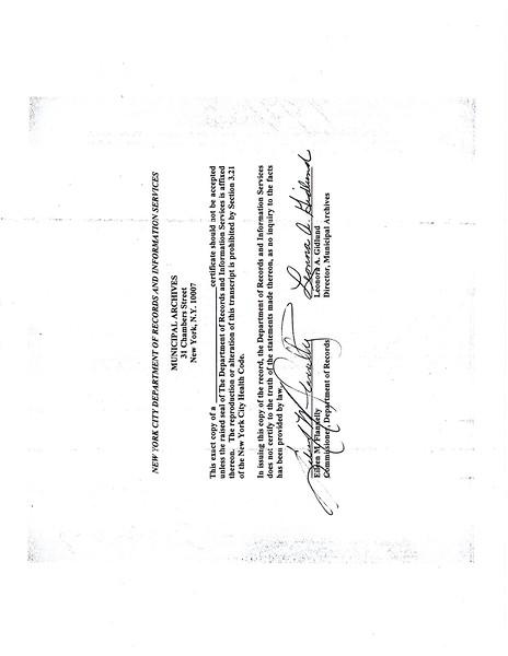 Standard Certificate of Death Sophie Hans Ketz (1859-1923) p. 2