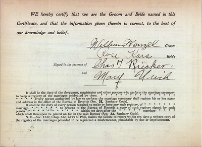Documents - Wenzel Family