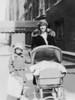 Naomi Bloom, Kate Rosen.  Daniel Bloom in carriage.<br /> <br /> 115 W. 73rd Street, NY, NY<br /> <br /> 1925