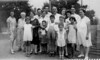 Adults in Back Row:  Sarah Bloom, Dora Ponemonsky, Jennie Hurwitz, Oscar Hirschmann, Esther Bloom, Norman Rosen, Max Rosen, Edith Bloom, Ruth Bloom, Harold Rosen, Kate Rosen.<br /> <br /> Children in Front Row:  Lenore Bloom, Lester Rosen, Jack Rosen, Daniel Bloom, Leon Bloom, Naomi Bloom