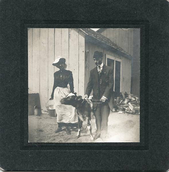 Annie Boucher, on left