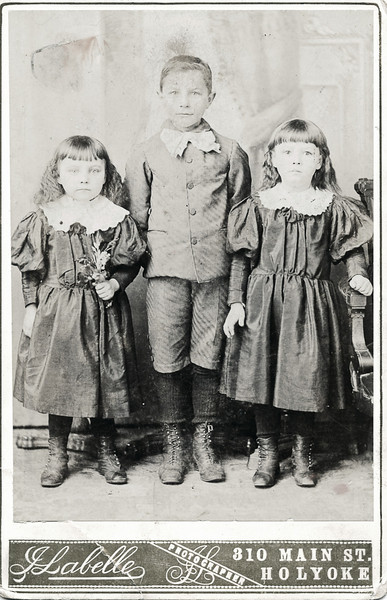 Annie Boucher, on right.  Cousin Beatrice Boucher on left.  About 1895