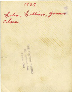 Leila, Lillian, James and Clare Caldwell (REVERSE)