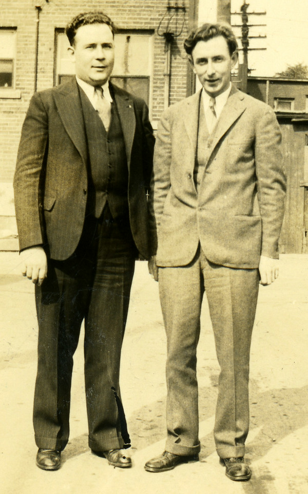 Robert X Caldwell and unidentified friend 1927