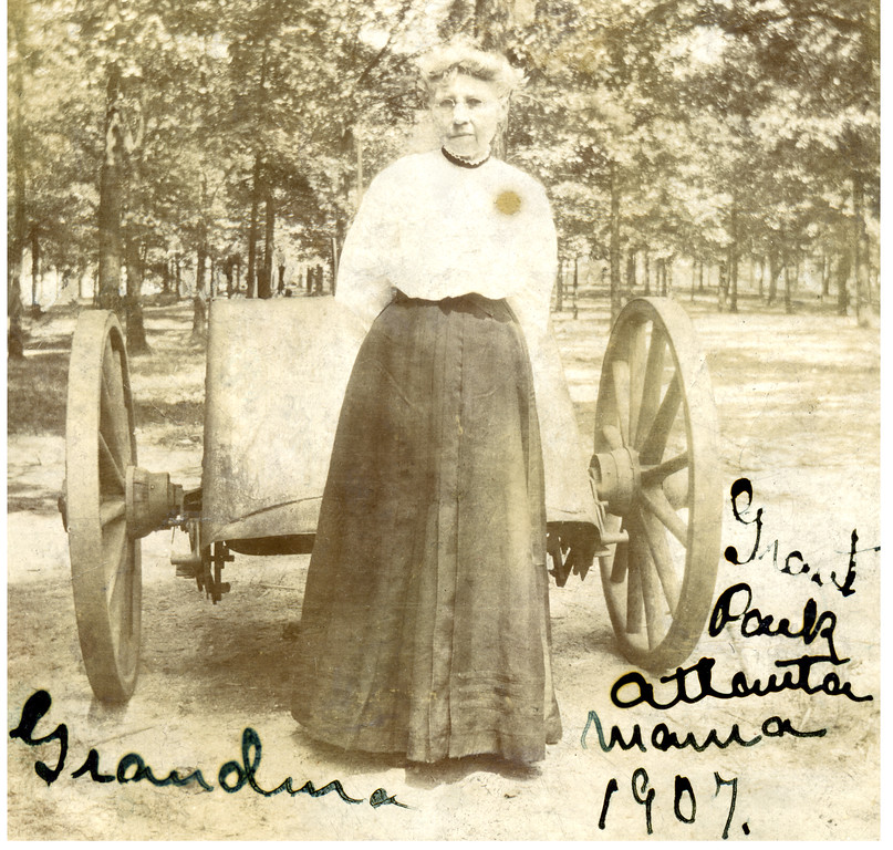 Ellen Diffley Reilly Schoolcraft<br /> Grant Park in Atlanta 1907<br /> (born 1848 / died 1920)