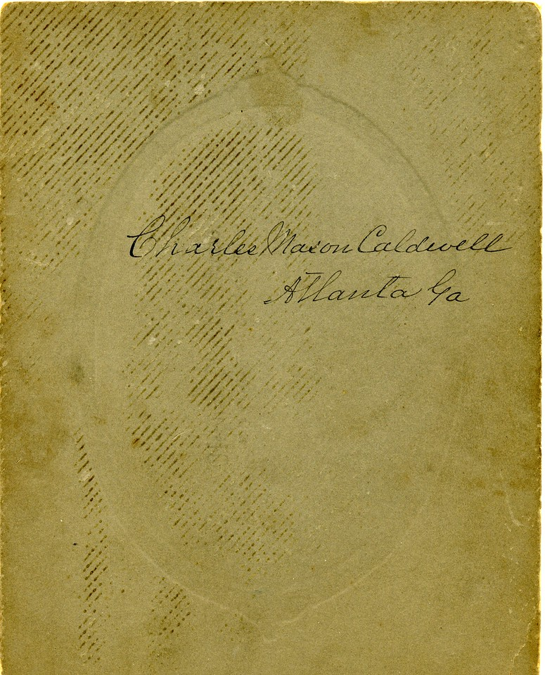 Reverse of the Charles Mason Caldwell Atlanta Photo