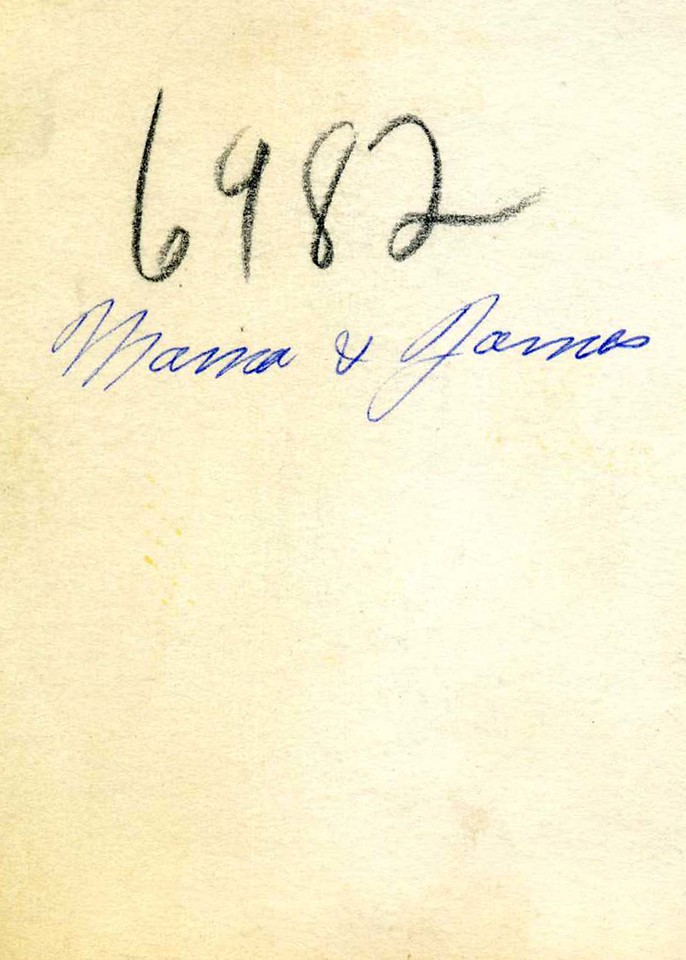 Reverse of the photo