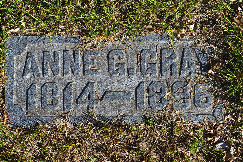 Plot 196, Row 18<br /> Anne G. Gray<br /> 1814 - 1896