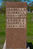 Plot 6, Row 2<br /> Isabella<br /> Durrell<br /> 1884 - 1937<br /> Agnes J.<br /> Durrell<br /> 1869 - 1941