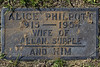 Plot 37, Row 5<br /> Alice Philpott<br /> 1915 - 1954<br /> wife of<br /> Allan Supple<br /> and Kim