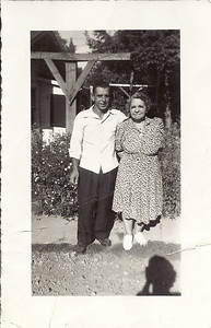 Norman Carl and mother Edna Brown Carl 1947