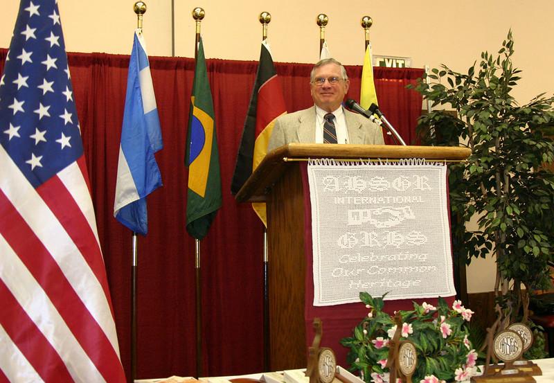 AHSGR President Jerry Siebert of Morago, California.