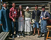 Youth attending the 2008 International Convention of Germans from Russia took time out to visit nearby Fort Caspar.  Shown here (left-to-right) are: Paul Janzen, Andrew Janzen, Marilee Janzen, Bethany Janzen, Will Richards, and Ray Richards.