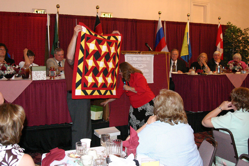 Big raffle items were awarded during the Saturday night banquet.