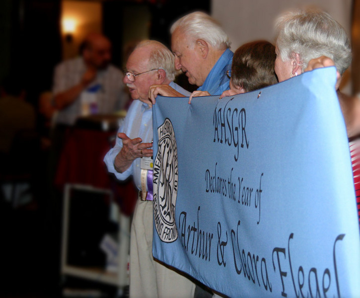 Convention pays tribute to Art and Cleora Flegel.