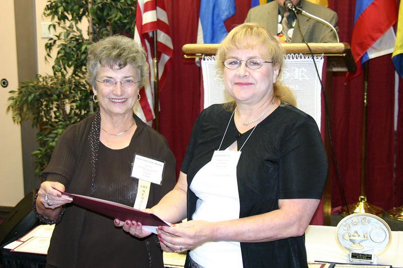 Storytelling award to Gwen Schock Cowherd.