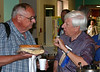 "That's Lew Marquardt of Austin, Texas on the right -- undoubtedly discussing the finer points of good Kuchen!  Who's the gentleman on the left? Please let us know with a ""Comment"" or click ""E-Mail Us"" at the bottom of the page. Thanks."