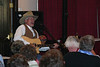 Wednesday was Western Night, and Kent Neubert of Casper came in off the range to provide some musical entertainment.