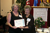 Judy Frothinger's story, entitled <i>They Called It Noah's Ark,</i> won an Honorable Mention.  Judy, who is from Santa Rosa, California, is on the left here, receiving her award from Karen Suderman Penner of AHSGR.