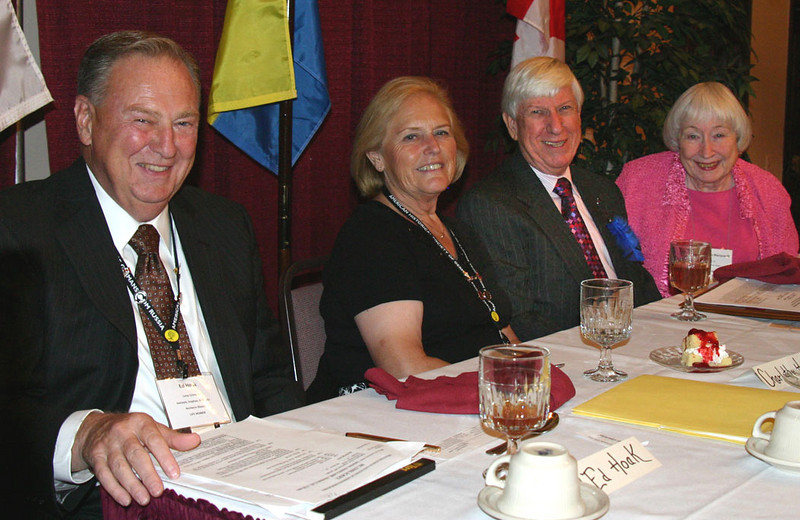 Part of the Head Table for the Saturday banquet.  Left-to-right are:  Ed Hoak and Charlene Hoak of Long Grove, Illinois; Lewis Marquardt and Dona Reeves-Marquardt of Austin, Texas.