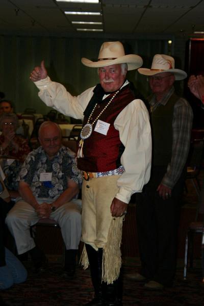 The western attire winner is..James Griess of Malcolm, Nebraska!