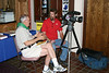Henry Schmick (left) of Sheridan, Wyoming, chats with a KTWO-TV photographer in Heritage Hall during the 2008 convention.