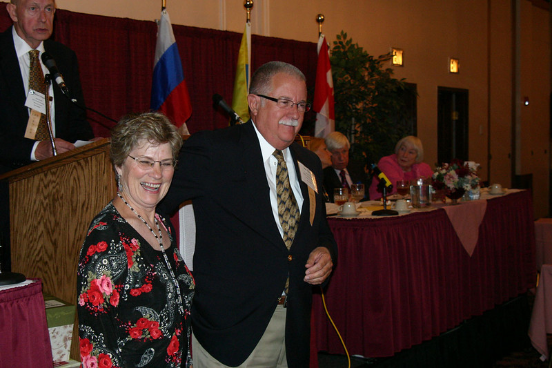 Corinne Koehler of Arvada, Colorado, and Don Schenk of Sioux City, Iowa, were among those honored by the IFAHSGR on Saturday night.