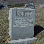Catherine Denbow Scott  Henry Scott tombstone
