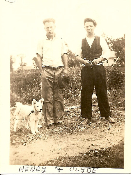 Clyde Barrett on the right with brother Henry