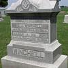 Winchell headstone, Leon Cemetery, Prophetstown, Illinois