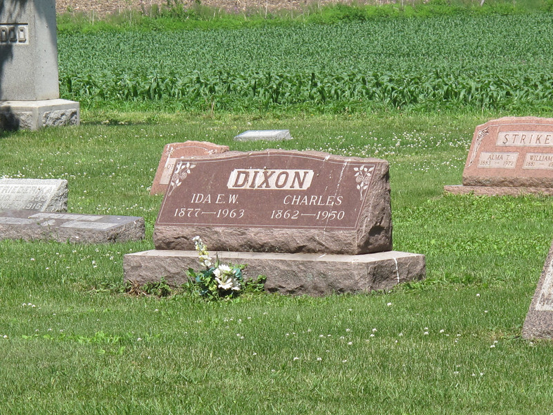 Ida and Charles Dixon, Leon Cemetary, Henry County Illinois