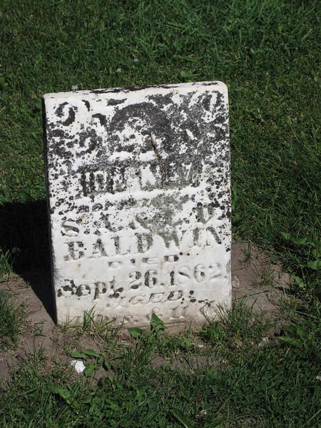 Baldwin headstone, Leon Methodist Cemetary