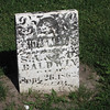 Baldwin headstone, Leon Methodist Cemetary