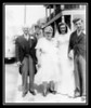 (l-r) Oliver & Blanche Robarge, Cecile & George Chouinard on George & Cecile's wedding day; May 17, 1947.<br /> Mr. & Mrs. Robarge were Cecile's foster parents.